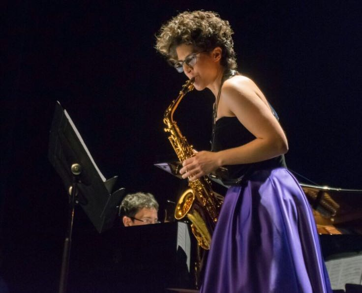 La saxofonista Ana García Caraballos, ejemplo de superación y mujer admirada